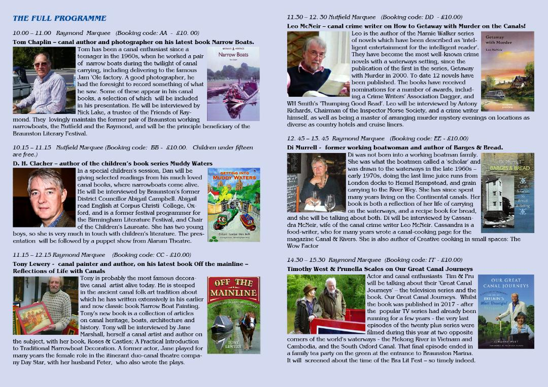 Braunston Literary Festival